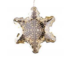 Schneekristall LED Weihnachtsstern