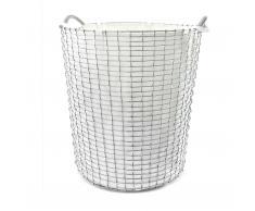 Korbo Classic Wäschekorb 80 edelstahl weiß