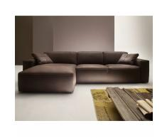Wilna Sofa mit Longchair links in Leder kurz
