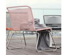 Panton One Lounge Sessel Outdoor edelstahl-rosa