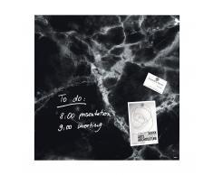 artverum® Glas-Magnetboard Black Marble 48x48