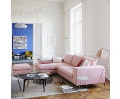 Almere Sofa mit Longchair links field rosa