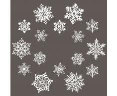 Winter Wonderland Fensterdekoration Adventskranz 16er-Set