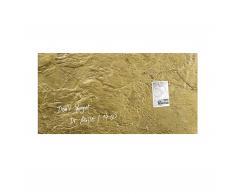 artverum® Glas-Magnetboard Edelmetall 91 x 46 metallic-gold