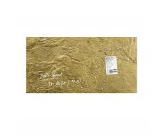 artverum® Glas-Magnetboard Edelmetall metallic-gold L