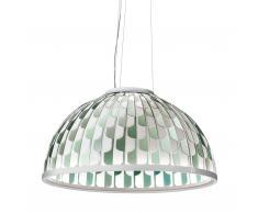 Dome LED Pendelleuchte 75 weiss-grün
