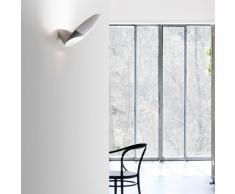 Garbì LED Wandleuchte alu-weiß