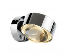 Puk Wall LED Wandleuchte Glas-Linse chrom glänzend