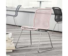 Panton One Stuhl Outdoor edelstahl-rosa