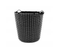 Korbo Classic Wäschekorb edelstahl 65 schwarz