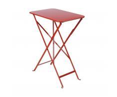 Bistro Tisch rechteckig mohnrot
