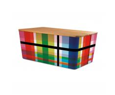 Brotbox mit Bambusdeckel ZigZag