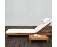 Korfu Sonnenbett Auflage mit Kissen