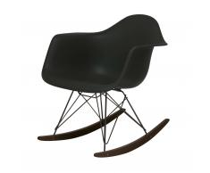 Eames Plastic Armchair RAR Schaukelstuhl basic dark-schwarz