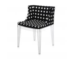 Mademoiselle Stuhl mit weißem Punktemuster