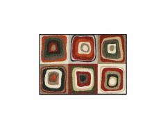 Modern Square Sauberlaufmatte 75x50 rot-schlamm