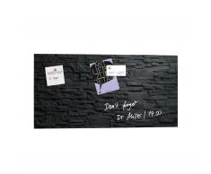 artverum® Glas-Magnetboard Schiefer-Stone 130 x 55