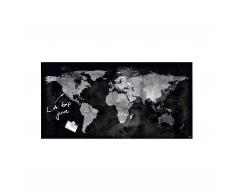 artverum® Glas-Magnetboard World Map