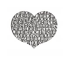 Metal Wall Relief International Love Heart Wandschmuck