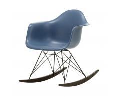 Eames Plastic Armchair RAR Schaukelstuhl ocean-schwarz