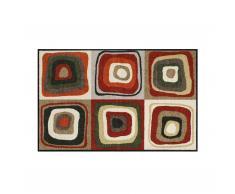 Modern Square Sauberlaufmatte 120x75 rot-schlamm