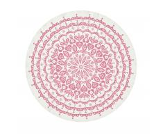 Lace Tischdecke grau/pink