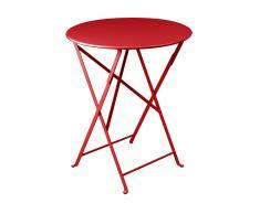Bistro Tisch rund mohnrot
