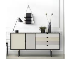 S6 Sideboard schwarz-mehrfarbig