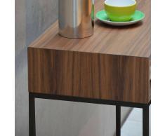 Dina Nachttisch mit Schublade nussbaum-schwarz