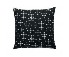 Small Dot Pattern Deko- und Sofakissen reverse dark