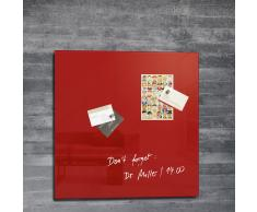 artverum® Glas-Magnetboard 48 x 48 rot