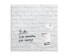 artverum® Glas-Magnetboard White-Klinker 48 x 48