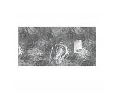 artverum® Glas-Magnetboard Edelmetall shiny-silver L