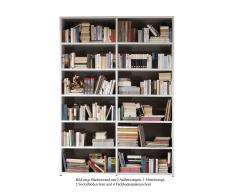 Bücherwand 2.1 Tür inkl. Rückwand Eiche