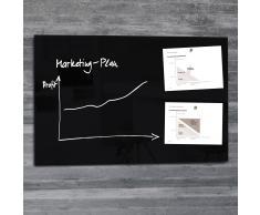 artverum® Glas-Magnetboard 100 x 65 schwarz