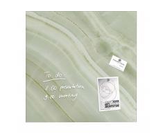 artverum® Glas-Magnetboard Green Mineral 48x48