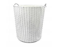 Korbo Classic Wäschekorb 80 verzinkt weiß