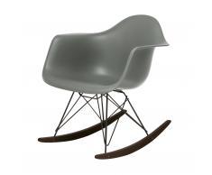 Eames Plastic Armchair RAR Schaukelstuhl basalt-schwarz