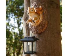 Solarlampe neugieriges Eichhörnchen, 11,5x12,5x19,5 cm, Polyresin