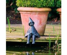 Gartenfigur Wichtel Anglerglück
