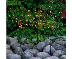 Star LED-Baum Tobby, 3er-Set, 90cm, Metall, braun