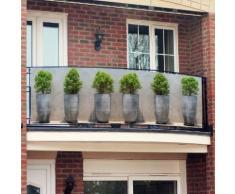 Balkon-Sichtschutz Pflanztöpfe