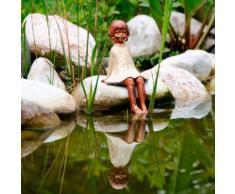 Gartenfigur Kantenhocker Sterntaler