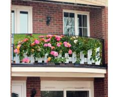 Balkon-Sichtschutz, Rosenzaun, 250 x 80 cm