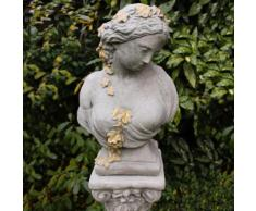 Gartenfigur Büste Kate, Gold-Optik
