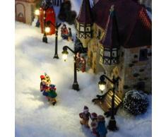 winterdorf mit beleuchtung