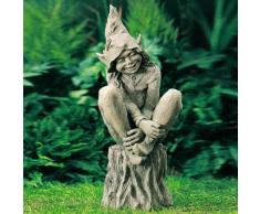 Gartenfigur Elf Happy
