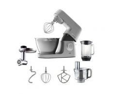 KENWOOD Küchenmaschine Chef Elite KVC5401S, 1200 W, 4,6 l Schüssel, inkl. Zubehör im Wert von UVP € 229,98, silber