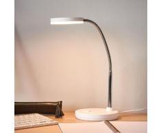 Weiße LED-Schreibtischlampe Milow