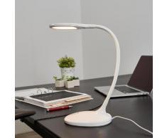 Weiße LED-Schreibtischleuchte Aijana, dimmbar